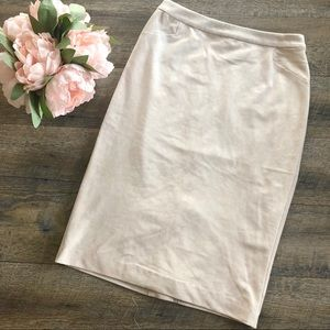 {Calvin Klein} Tan Suede Skirt